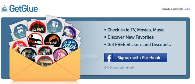 GetGlue Social TV Second Screen application