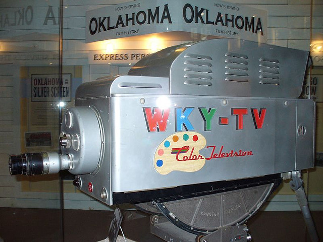 Old Television Color Camera WKY TV