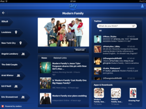 Sky+ application with Zeebox integration